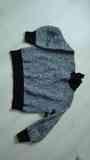 Jersey de punto negro y gris. Talla XL