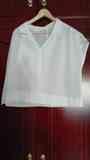 Camisa blanca. Manga corta Talla 50 (marirf)