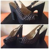Zapatos chica tacón y plataforma