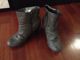 Zapatos de tacón gris