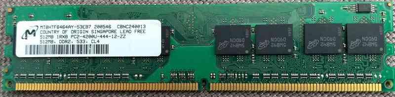 Módulo de memoria 512MB DDR2 533 CL4
