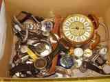 Muchos relojes de todo tipo