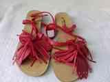 sandalias rojas nº 38