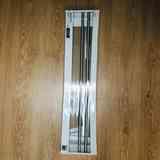 Barra metalizada para estante o toallero