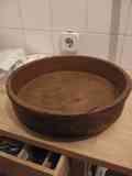 Cazuela redonda grande de barro