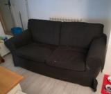 Sofá negro de ikea
