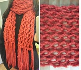 Bufanda roja/coral