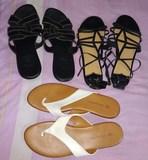3 pares de zapatos verano perfecto estado