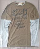 Camiseta Manga Larga Verde Hombre Talla 40 (Springfield)