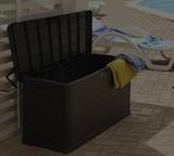Arcón baúl resina gris