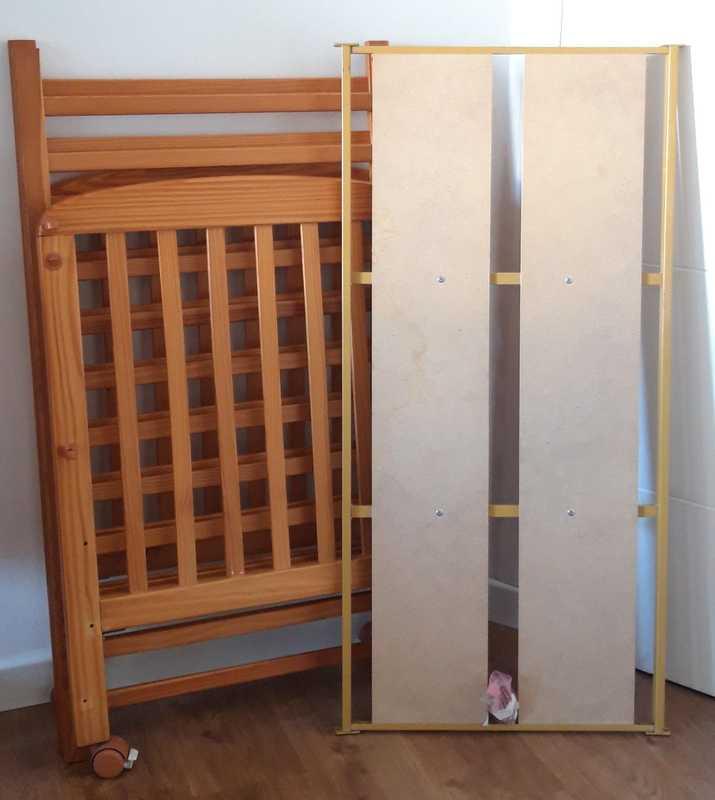 Cuna madera y trona ikea - itxi0