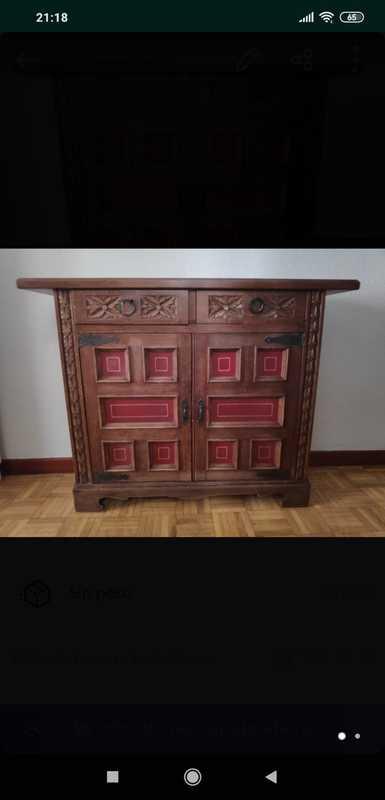 Mueble recibidor castellano