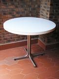 Mesa redonda con patas centradas metálicas (a ags9003)