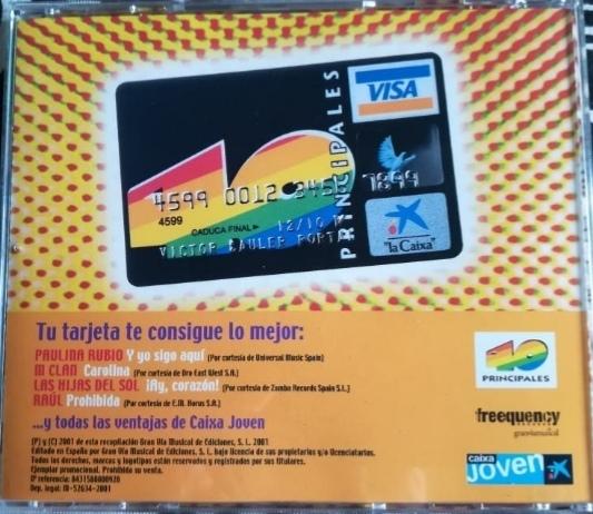 """Regalo disco CD de """"Los n° 1 de 2001"""" de 40 Principales."""
