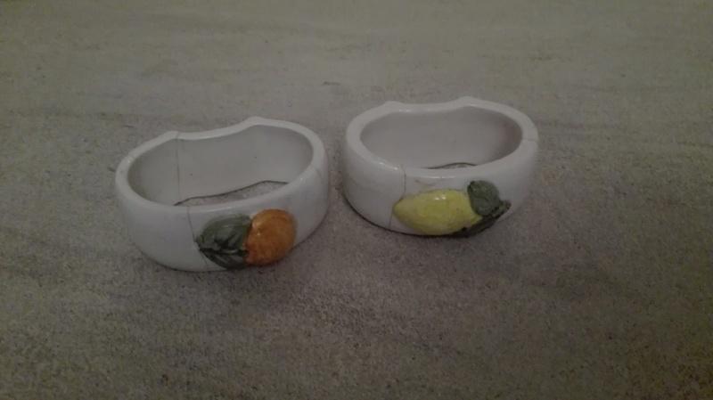 Servilleteros de porcelana