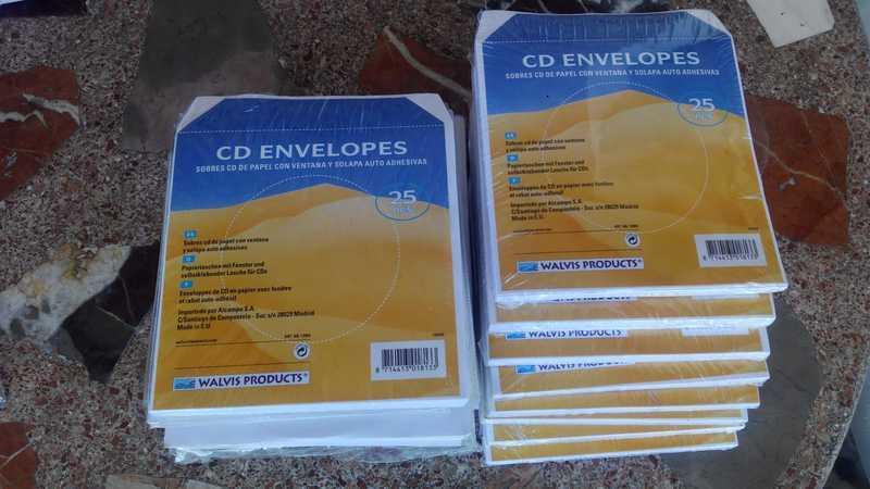 SOBRES para CD o DVD  (C4delo)
