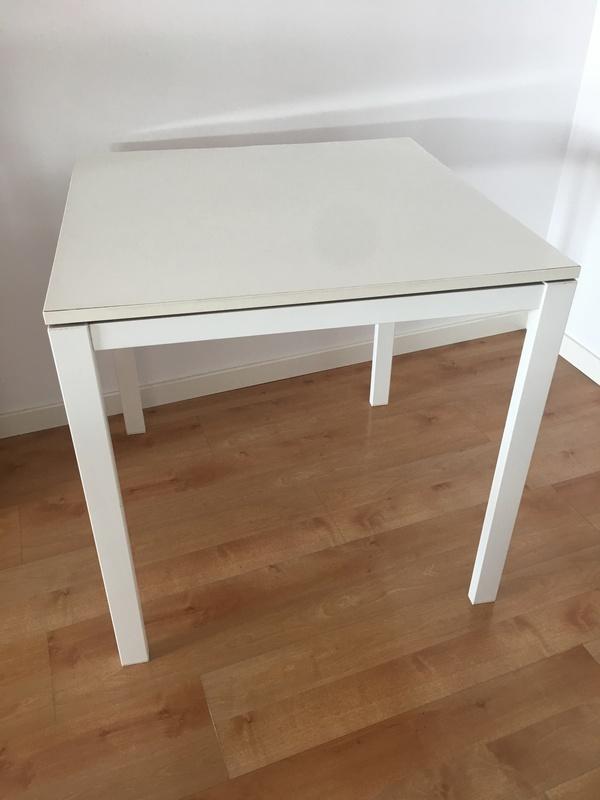 Mesa Melltorp Ikea blanca 75x75