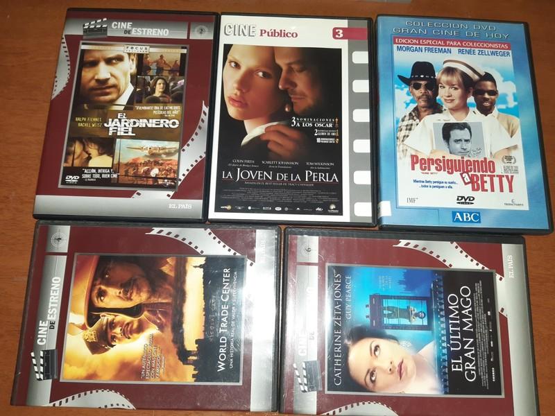 LOTE DE 5 DVDS.