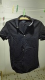 Camisa chico Azul Marino con puntitos. Talla S