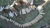 Bordes de madera para el jardin.