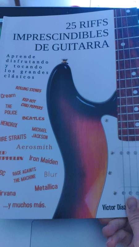 Librito con riffs de guitarra