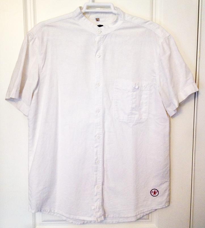 Camisa blanca de manga corta talla L (a ismeldatdavila)