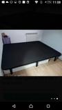 Somier base tapizada 190 x 160 x31 cm negra prefecto estado