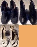 Grupo de botines y zapatos de tacón. Leer bien.