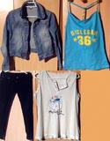 Grupo de ropa de chica deportiva.Leer bien
