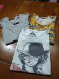 3 camisetas manga corta