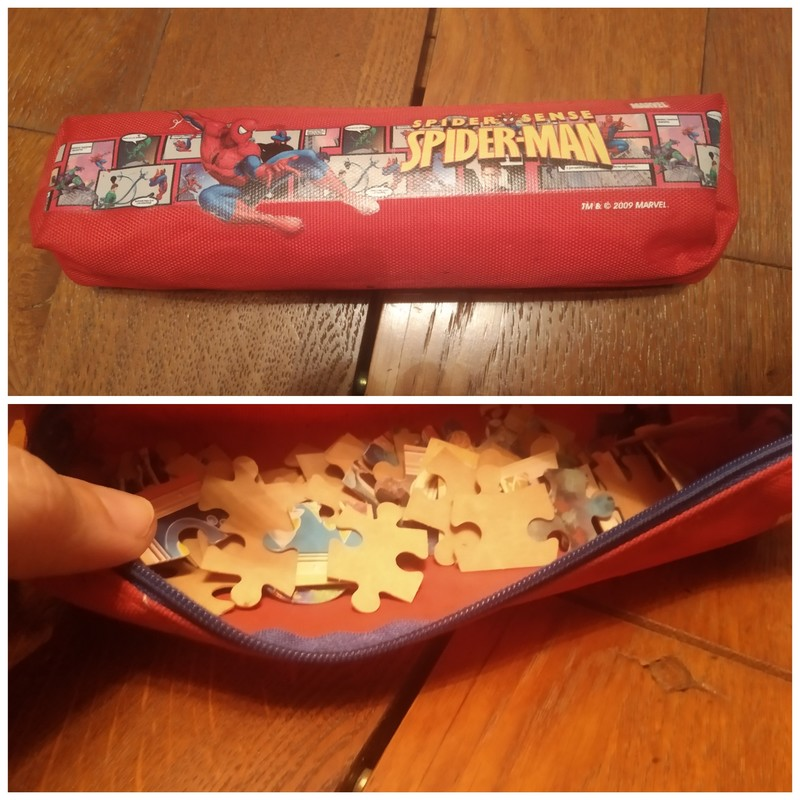 Estuche spiderman + puzzle