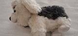 Peluche perro gris y blanco