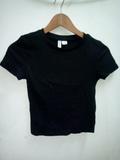 Camiseta negra XS 11 12 años