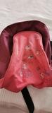 Mochila rosa y granate