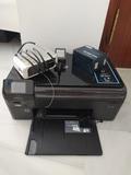 Escaner. Impresora da error de tinta. Radio
