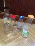 Botellas de vidrio reutilizables