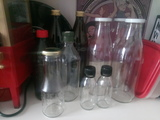 Botellas de cristal de 1 litro y más pequeñas