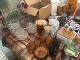 Platos, vasos, copas, tazas cristal, bandejas horno inox, etc