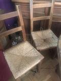6 sillas enea para restaurar