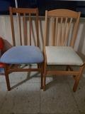 Regalo 4 sillas azules y 4 amarillas