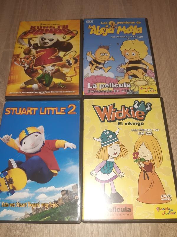 4 DVDS Animación