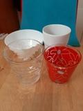Regalo 3 vasos sueltos y un tazón