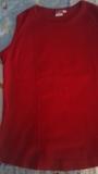 Camiseta sin mangas roja talla L