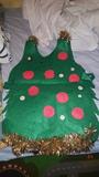 Disfraz de arbol de navidad hecho a mano