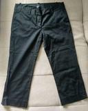 Pantalón Pirata Negro Mujer - Talla 38 (Zara Basic)