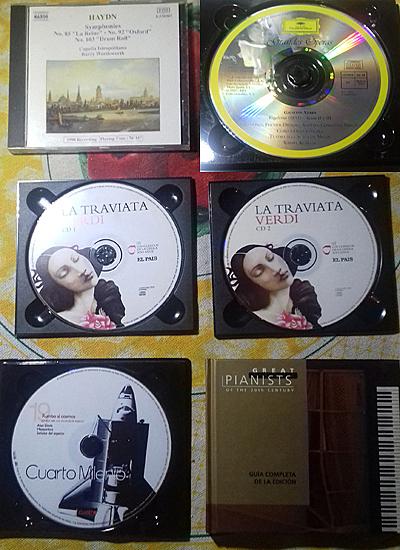 Lote de discos de ópera y más.
