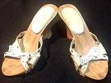 Sandalias blancas Nº 35.