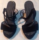Sandalias negras altas Nº 36.