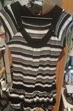 Vestido de algodón a rayas,talla M
