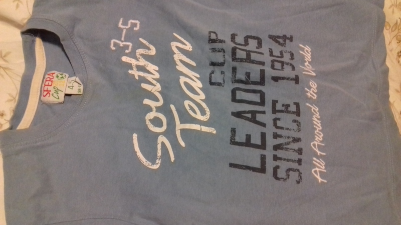 Camiseta manga corta talla 4-5 años